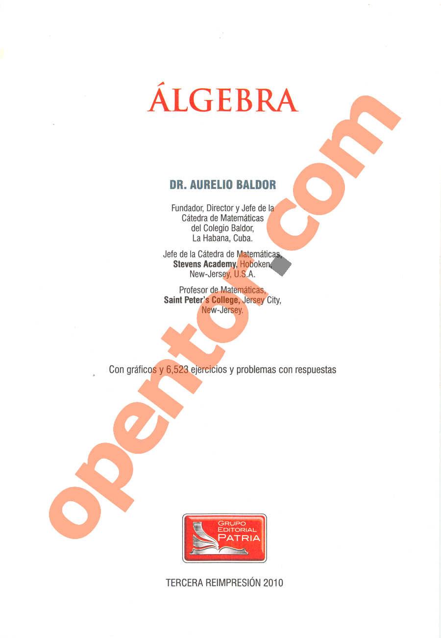 Álgebra de Baldor - Página 1