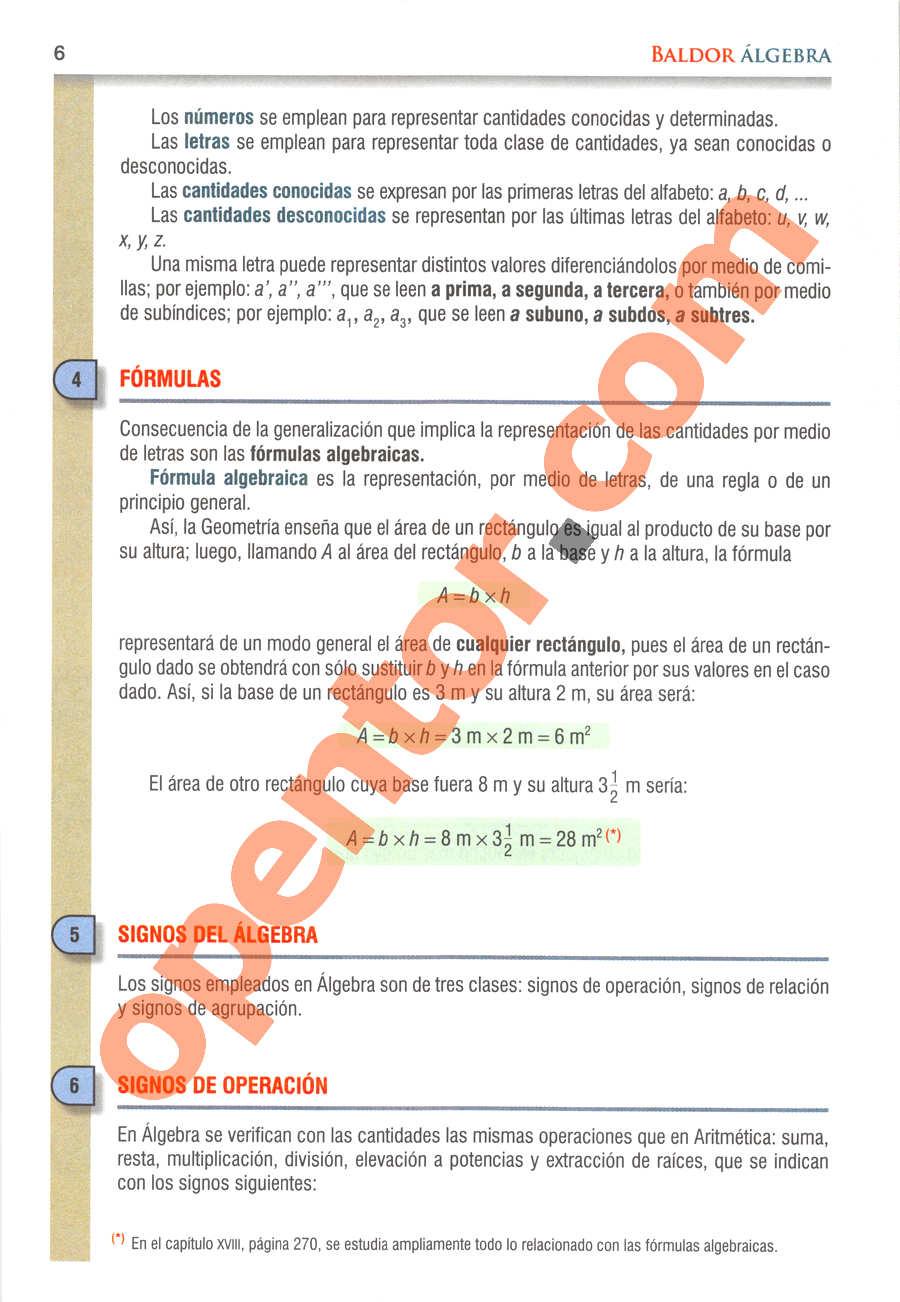 Álgebra de Baldor - Página 6