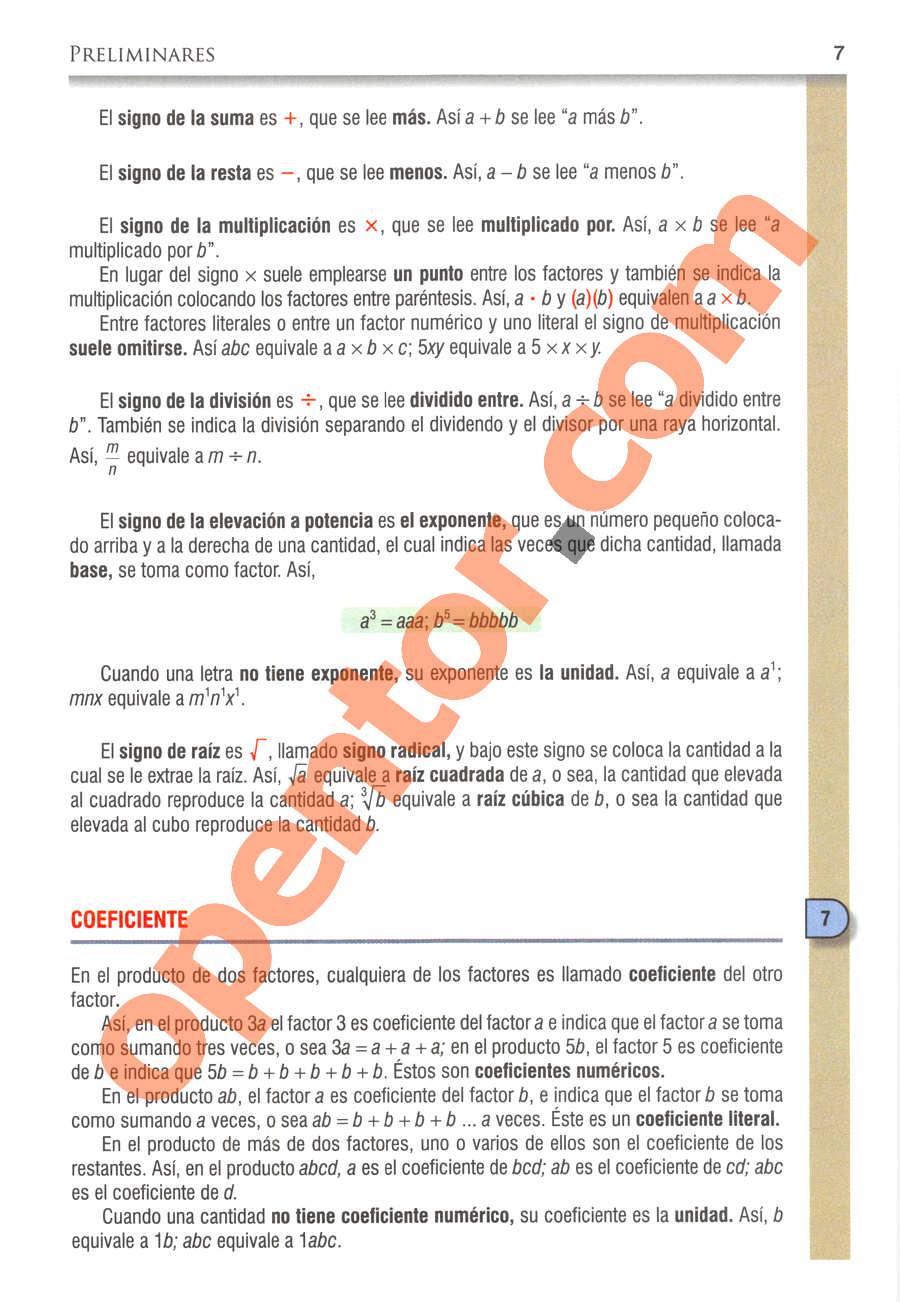 Álgebra de Baldor - Página 7