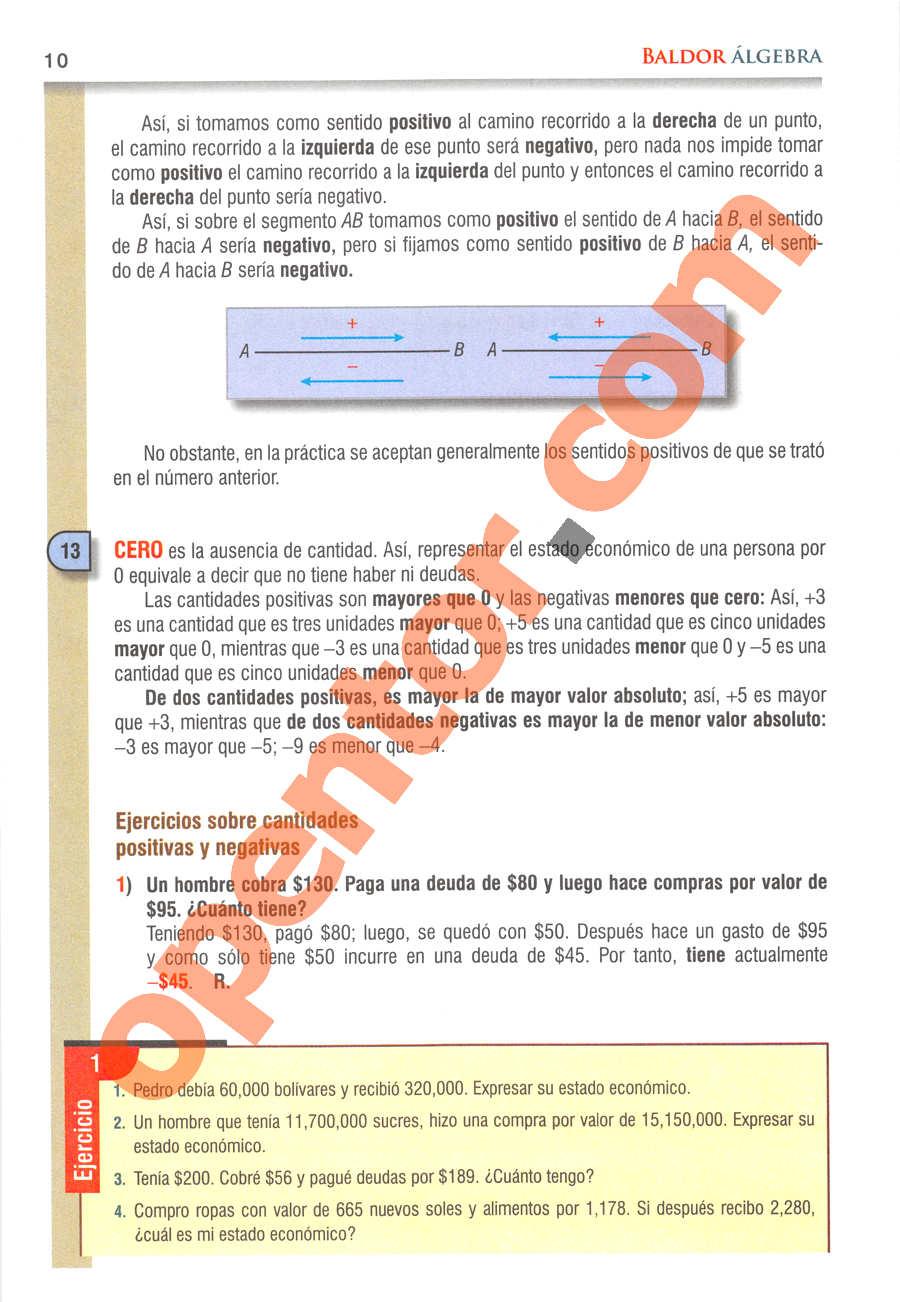 Álgebra de Baldor - Página 10