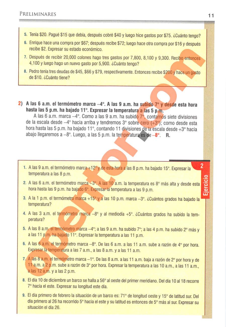 Álgebra de Baldor - Página 11