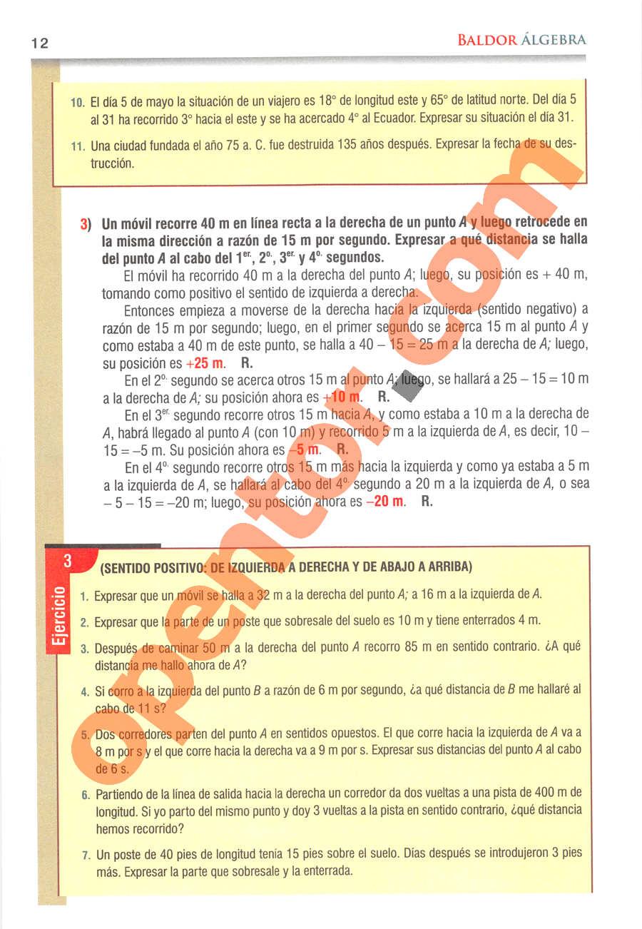Álgebra de Baldor - Página 12