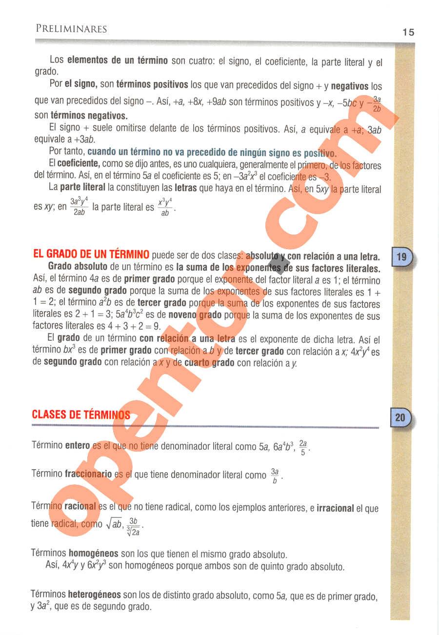 Álgebra de Baldor - Página 15