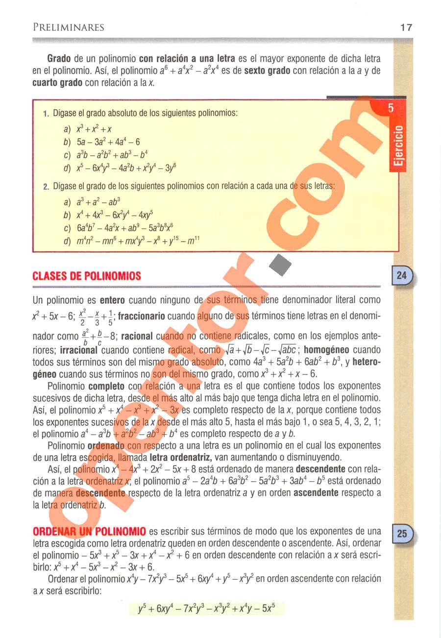 Álgebra de Baldor - Página 17
