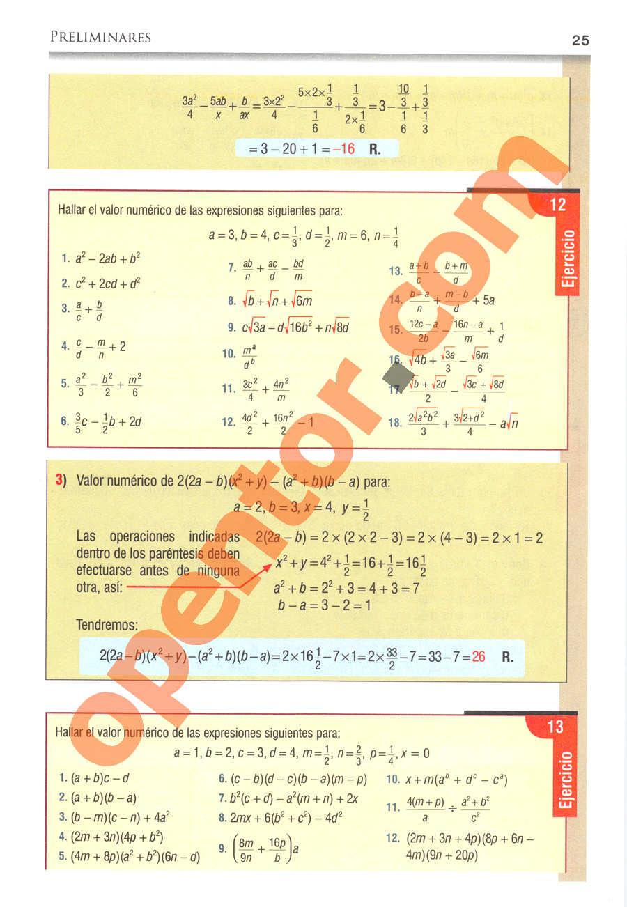Álgebra de Baldor - Página 25