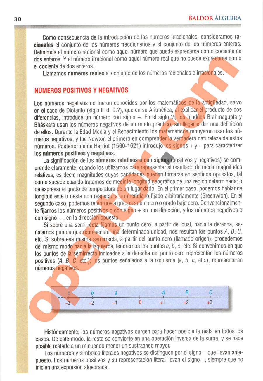 Álgebra de Baldor - Página 30