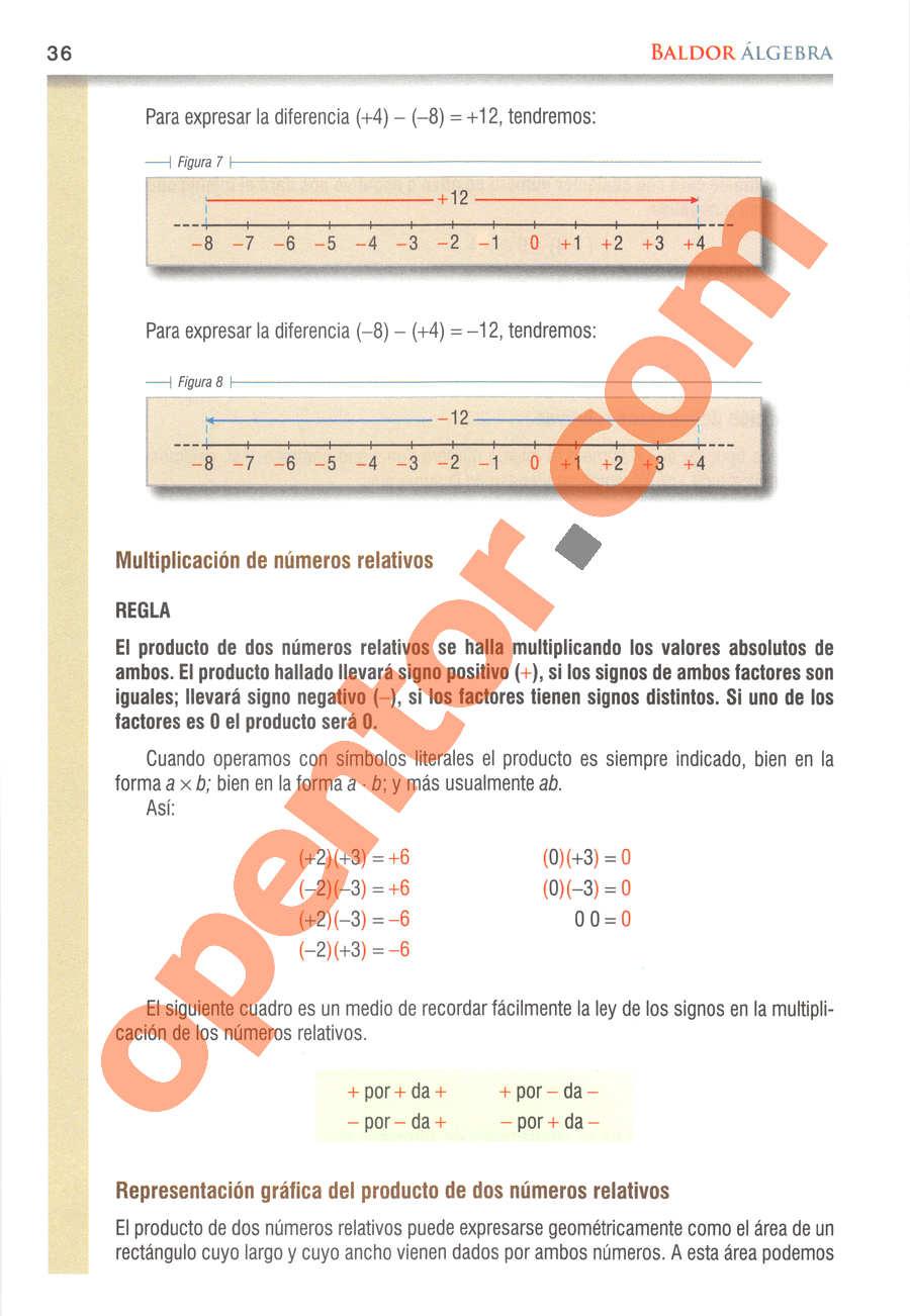 Álgebra de Baldor - Página 36