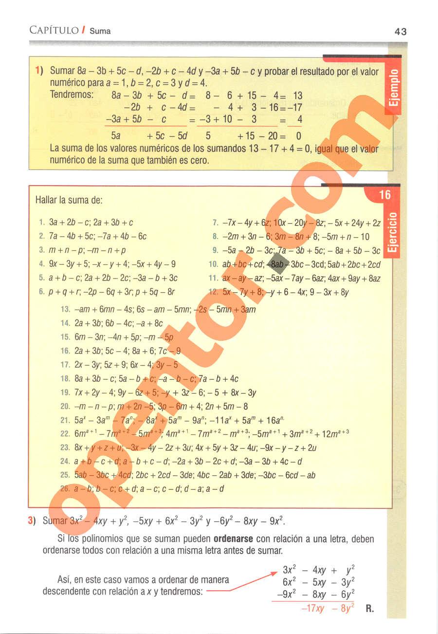 Álgebra de Baldor - Página 43