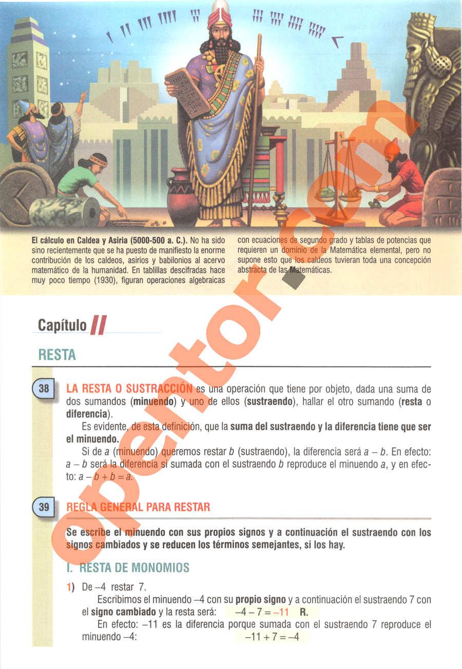 Álgebra de Baldor - Página 46