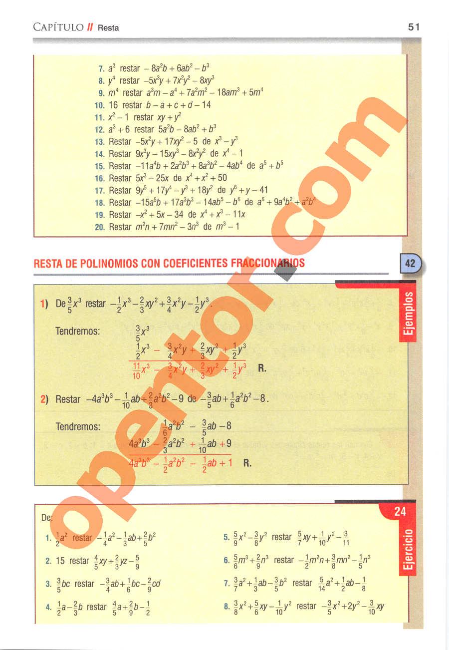 Álgebra de Baldor - Página 51