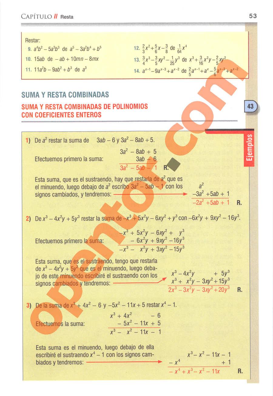 Álgebra de Baldor - Página 53