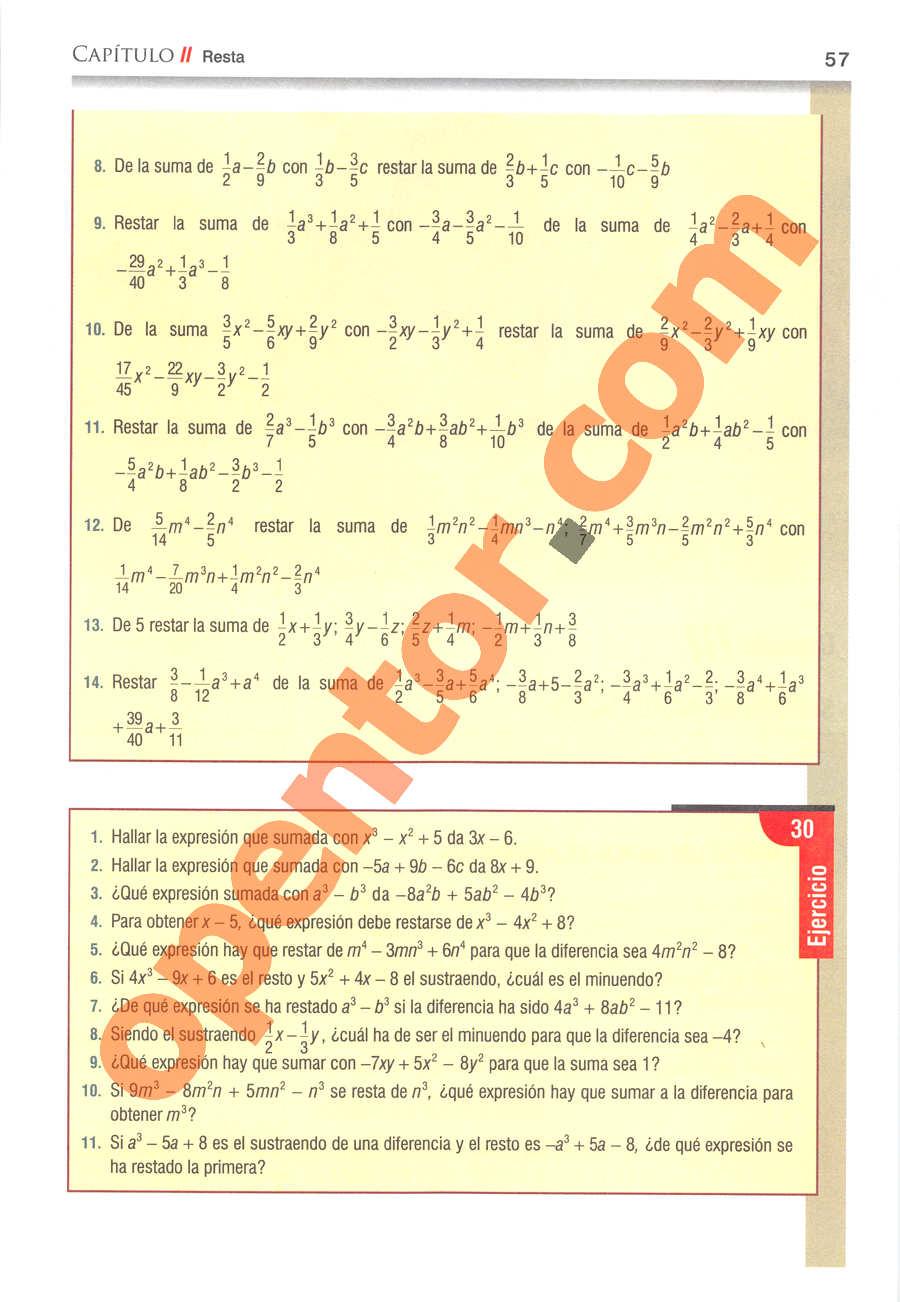 Álgebra de Baldor - Página 57