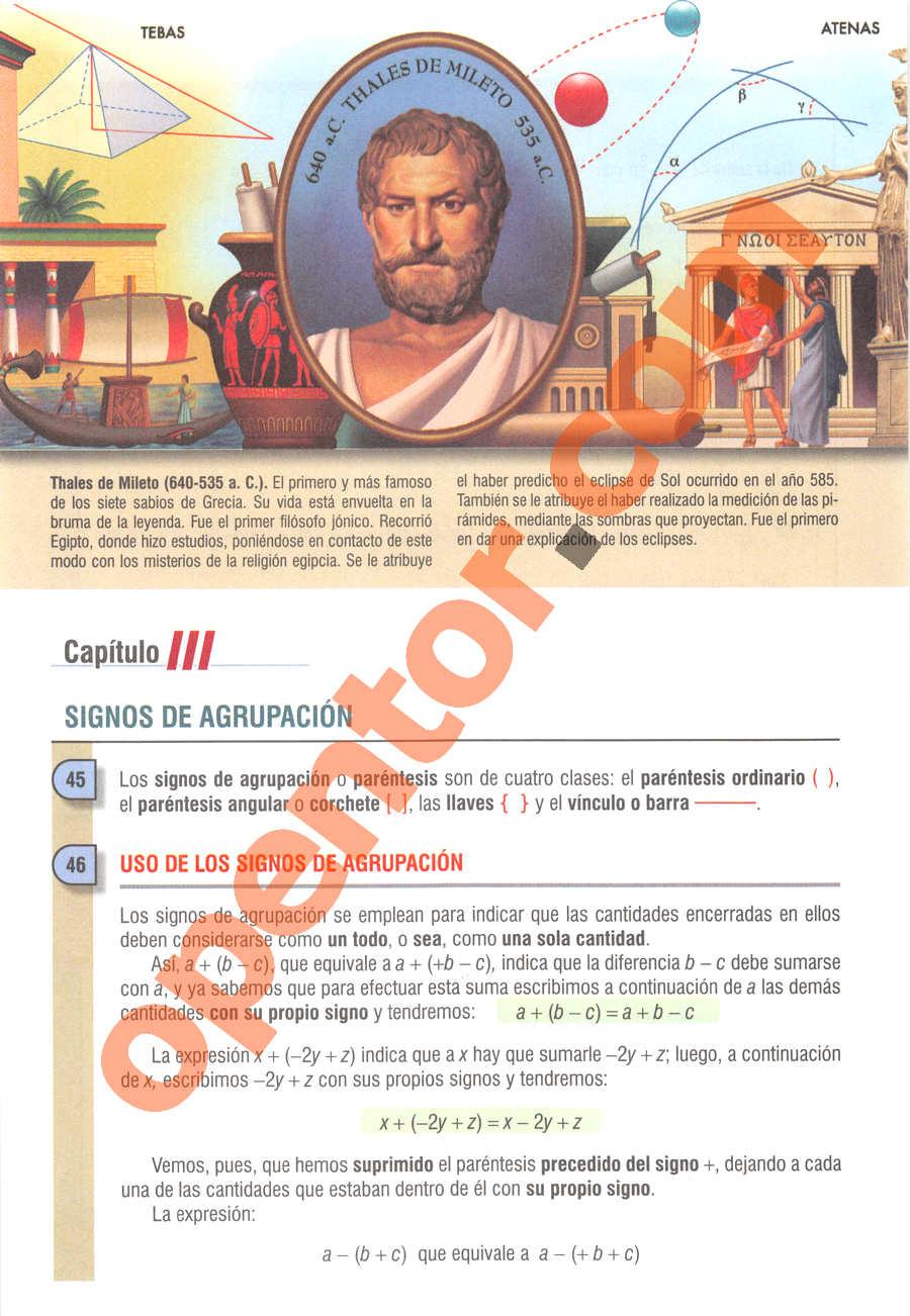 Álgebra de Baldor - Página 58