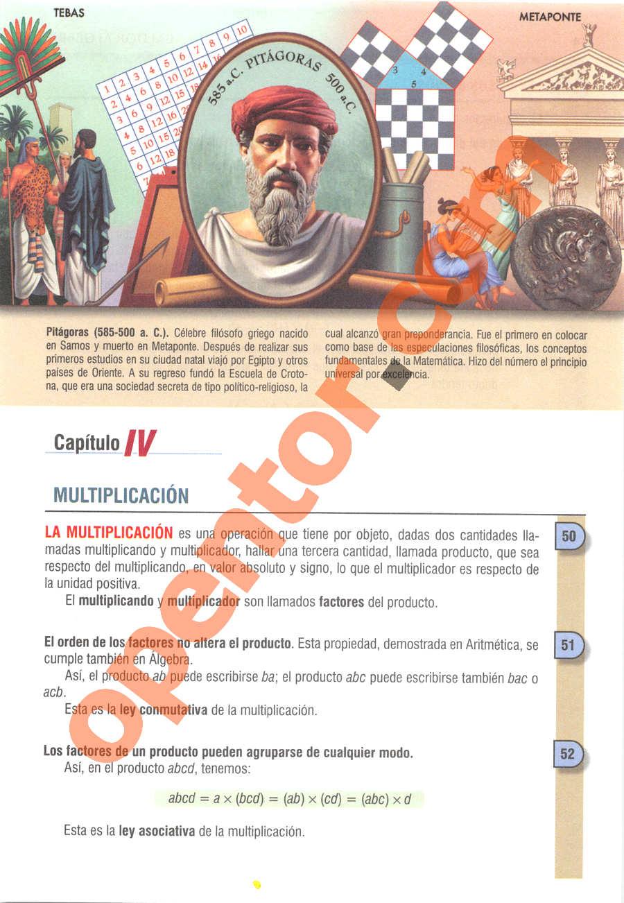 Álgebra de Baldor - Página 63