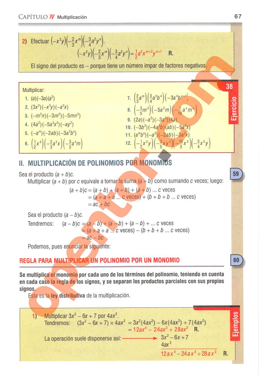 Álgebra de Baldor - Página 67
