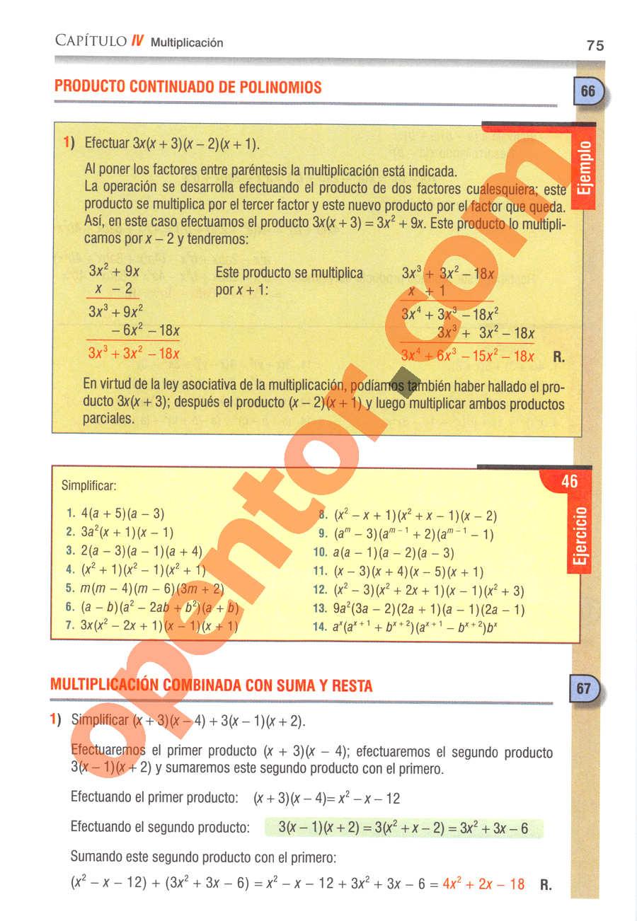 Álgebra de Baldor - Página 75