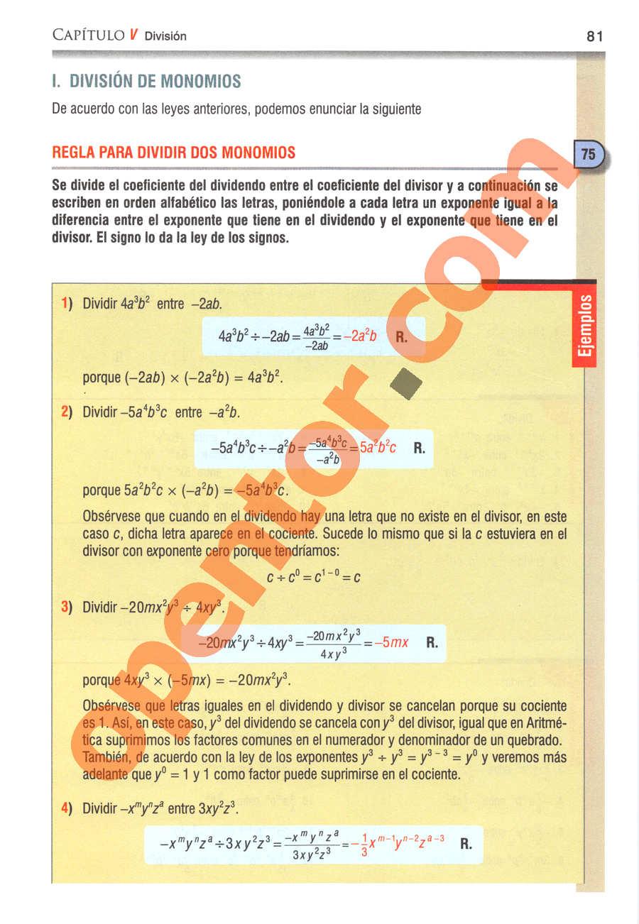 Álgebra de Baldor - Página 81