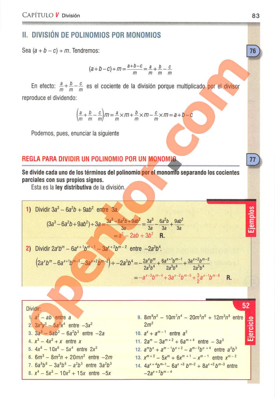 Álgebra de Baldor - Página 83