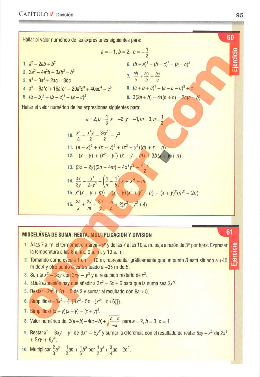 Álgebra de Baldor - Página 95