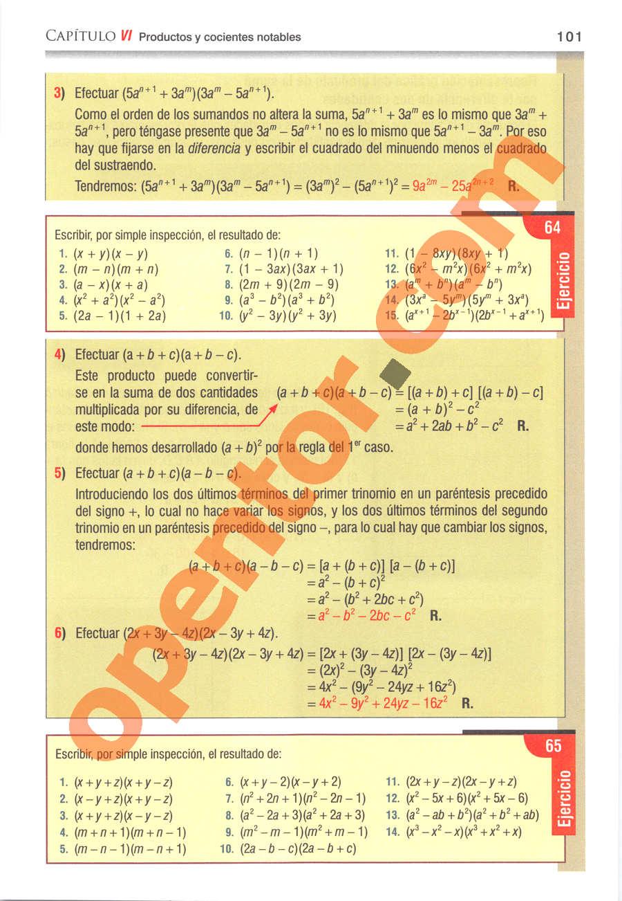 Álgebra de Baldor - Página 101