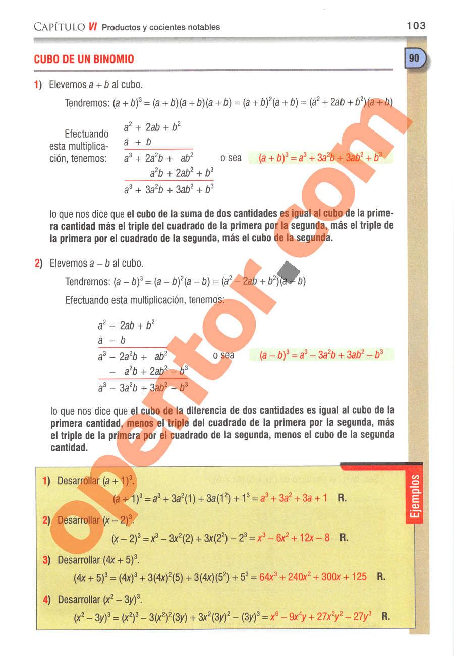 Álgebra de Baldor - Página 103