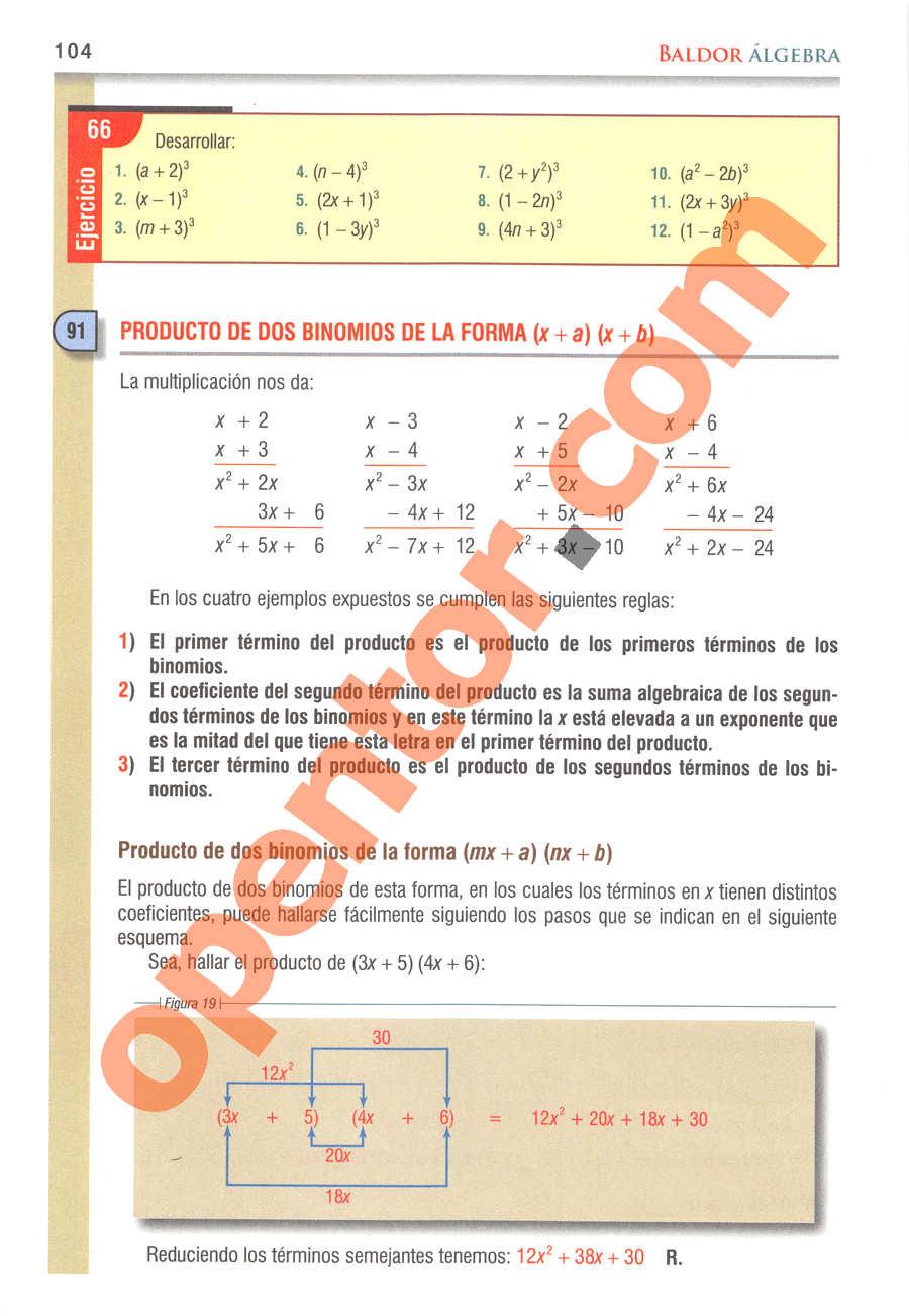 Álgebra de Baldor - Página 104