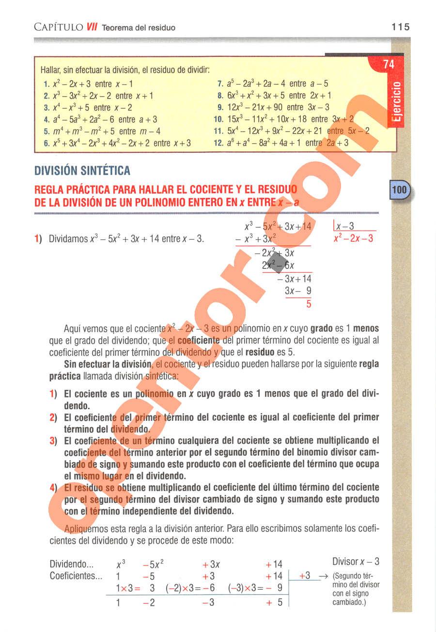 Álgebra de Baldor - Página 115