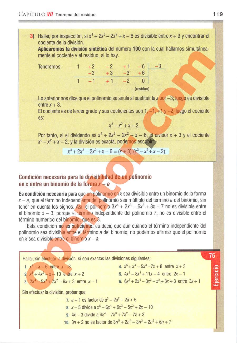 Álgebra de Baldor - Página 119