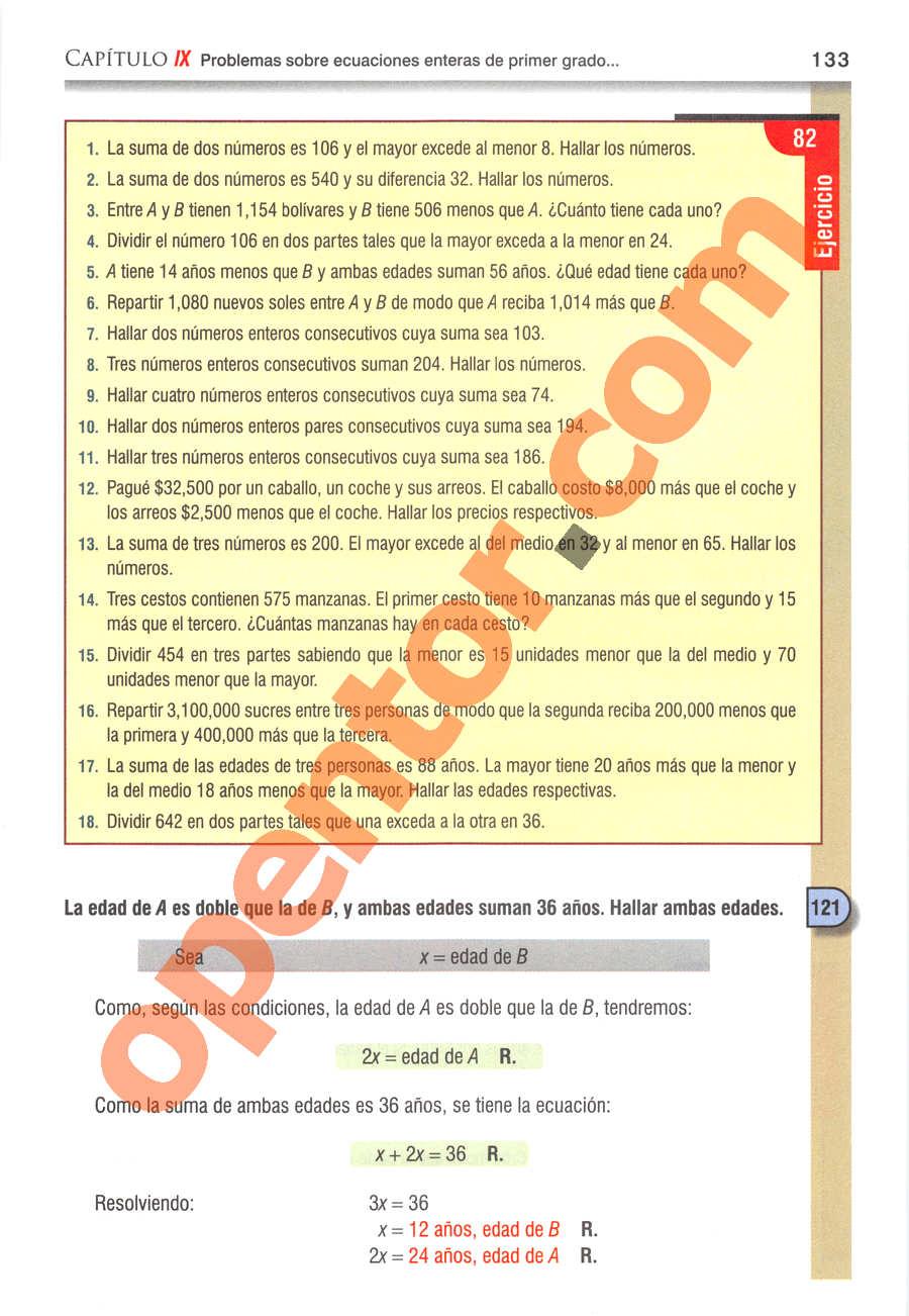 Álgebra de Baldor - Página 133