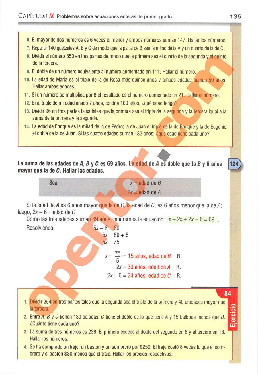 Álgebra de Baldor - Página 135
