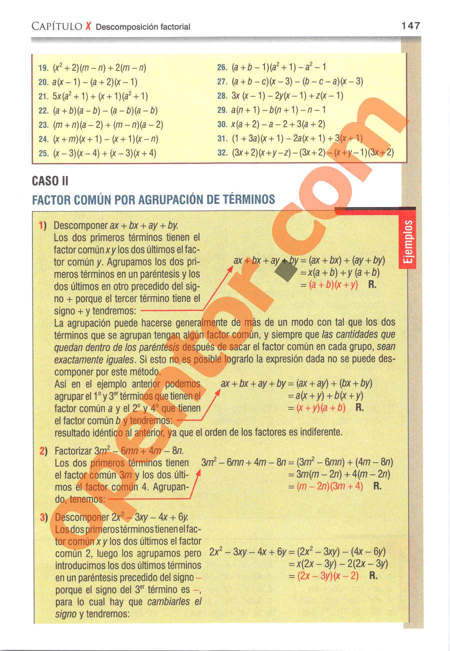 Álgebra de Baldor - Página 147