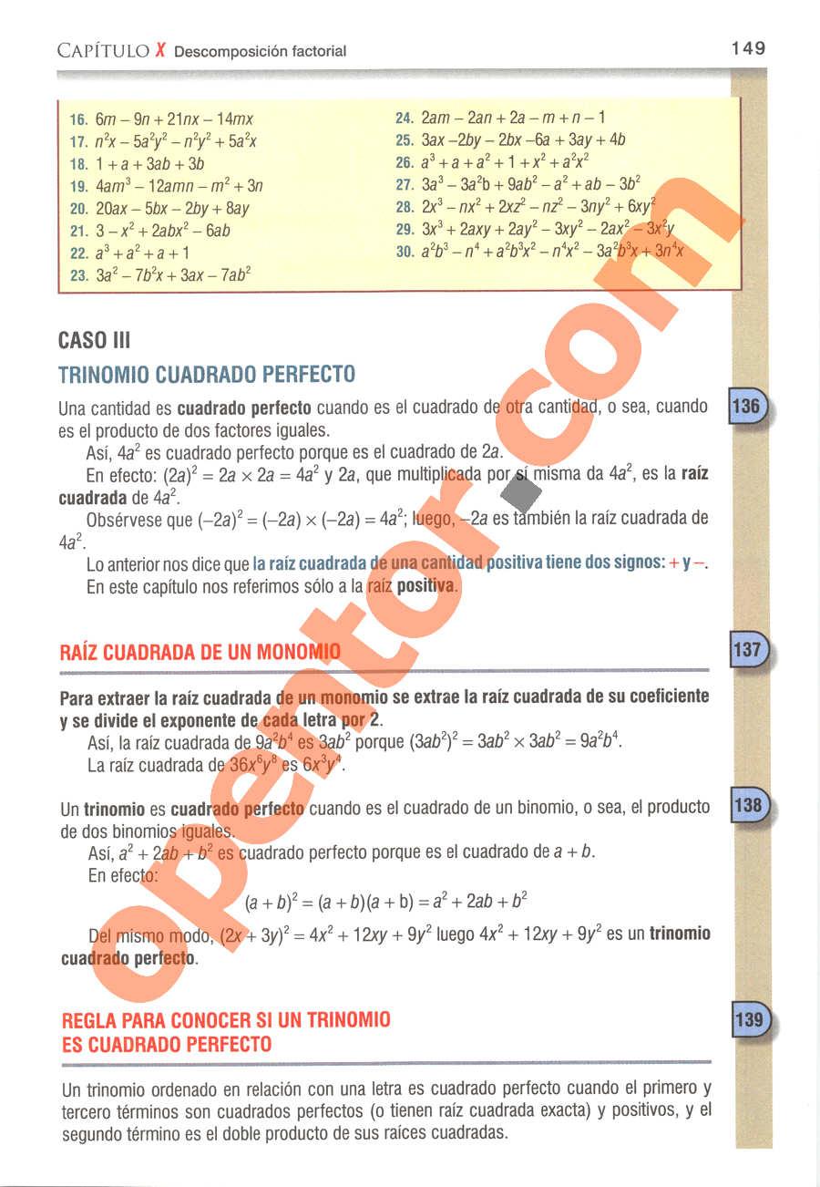 Álgebra de Baldor - Página 149