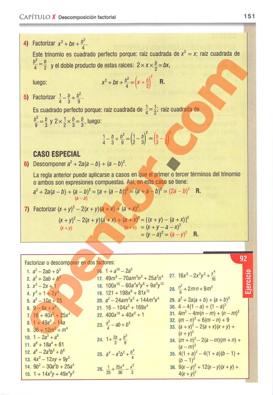 Álgebra de Baldor - Página 151