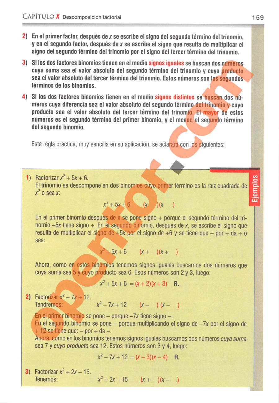 Álgebra de Baldor - Página 159