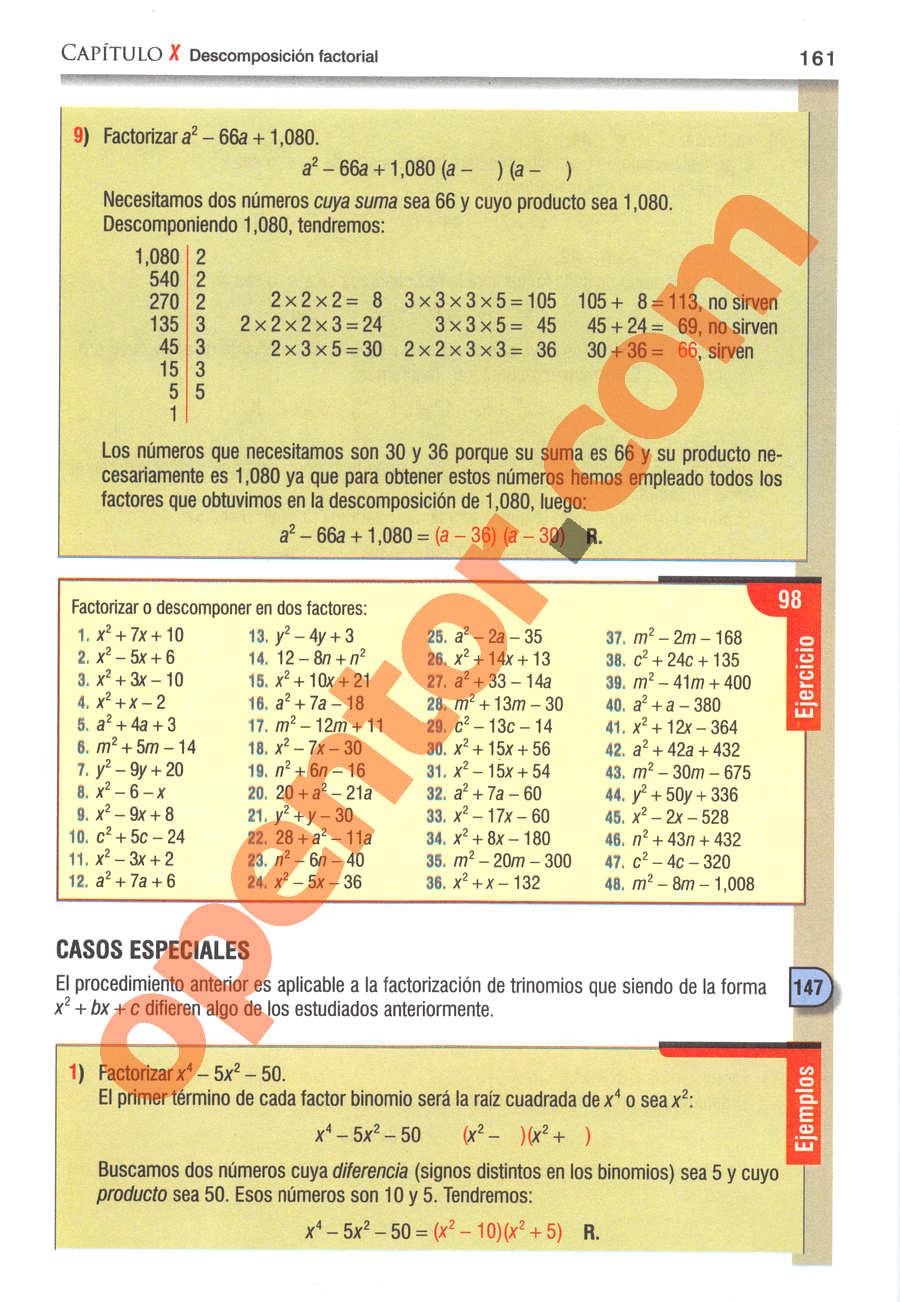 Álgebra de Baldor - Página 161