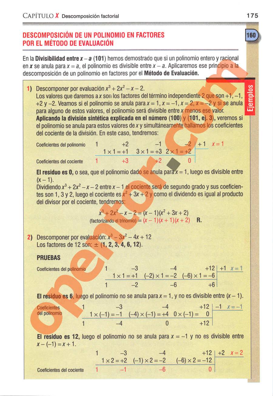 Álgebra de Baldor - Página 175