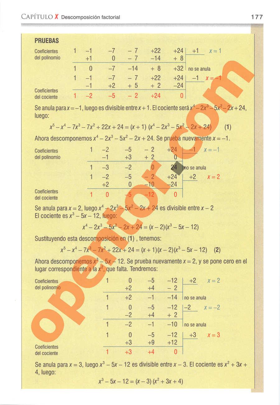 Álgebra de Baldor - Página 177