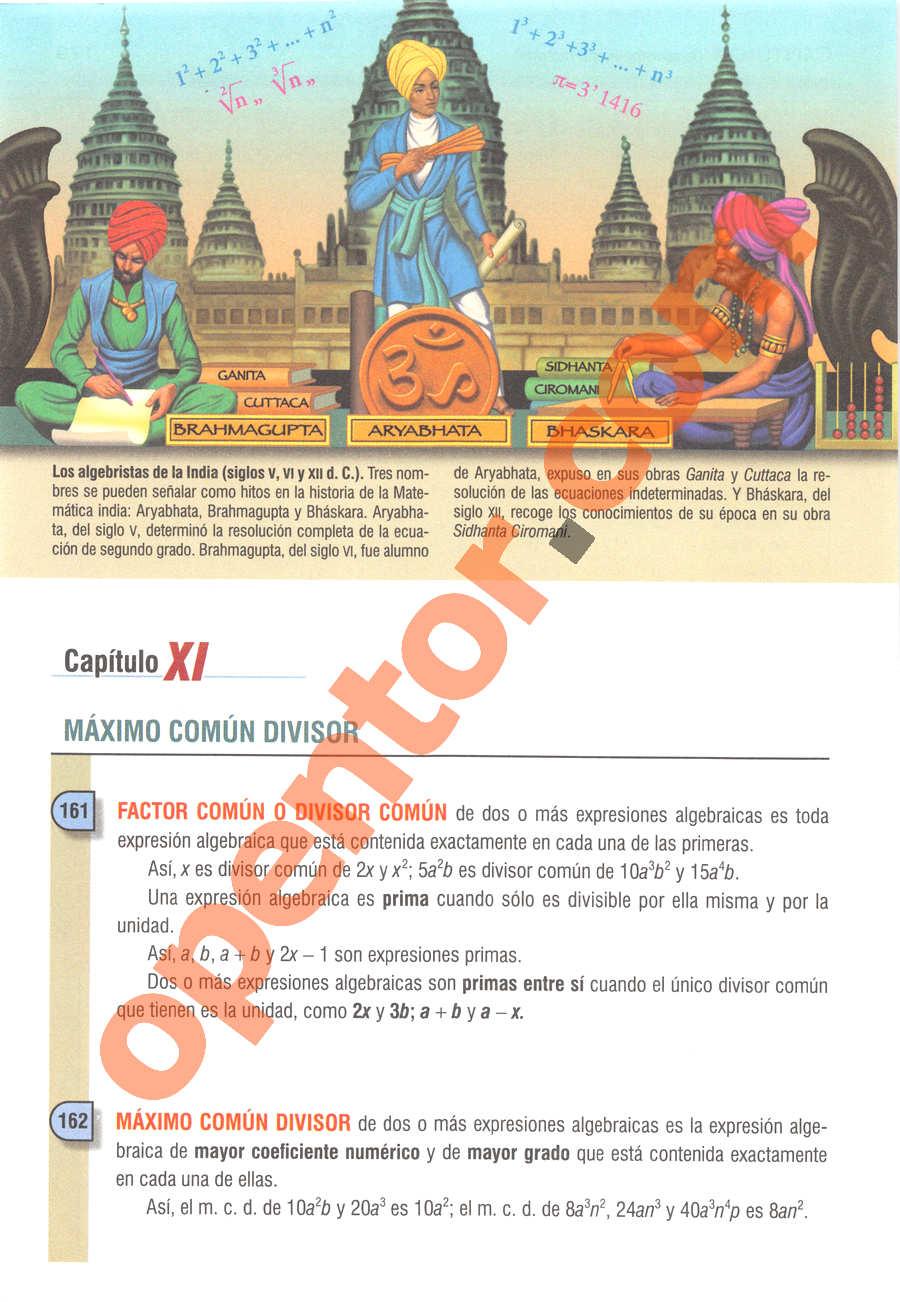 Álgebra de Baldor - Página 180