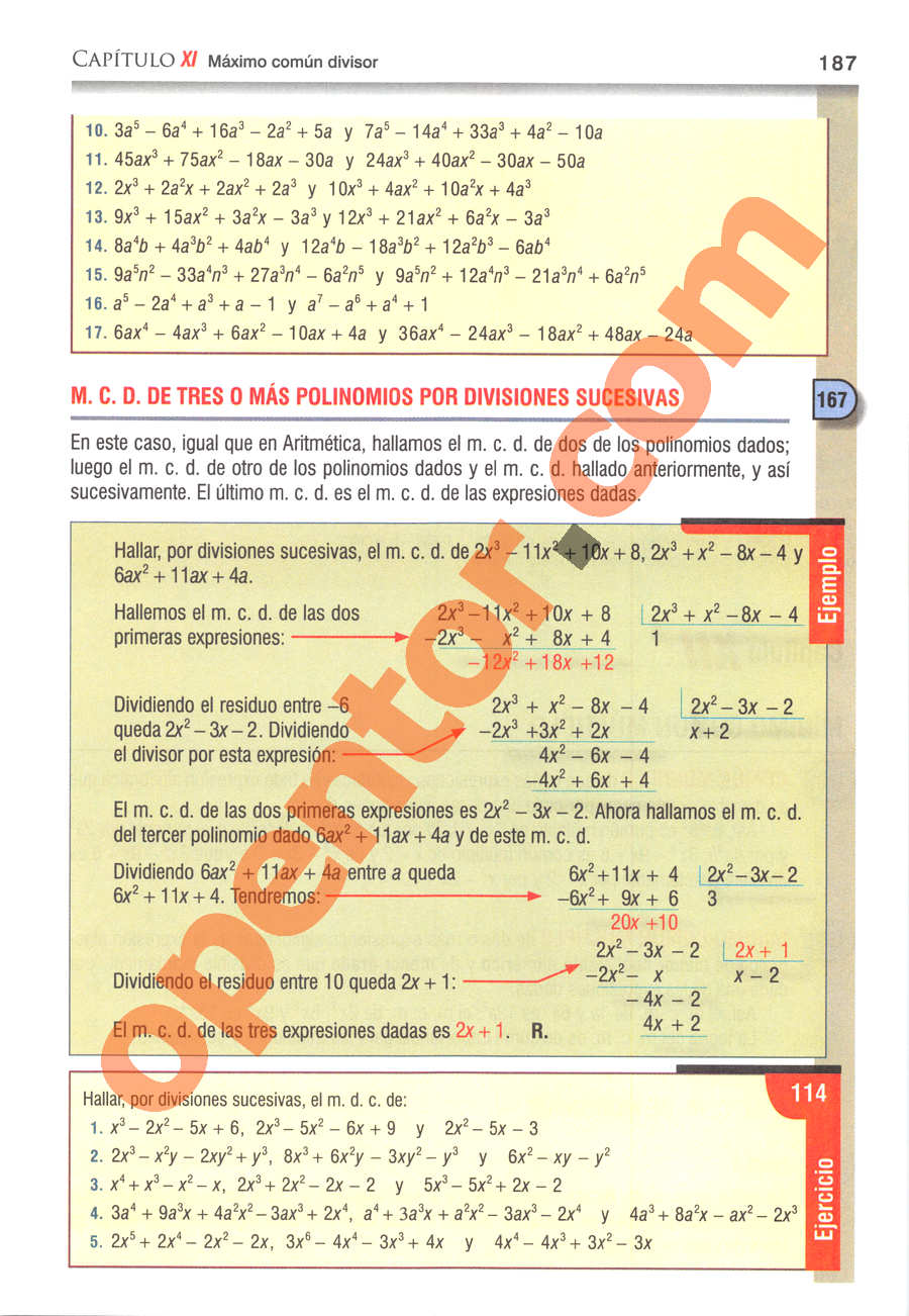 Álgebra de Baldor - Página 187