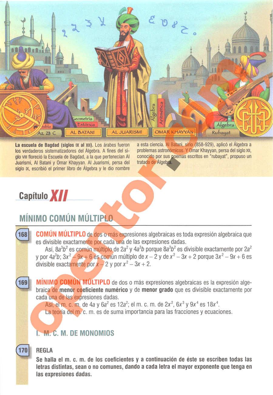 Álgebra de Baldor - Página 188