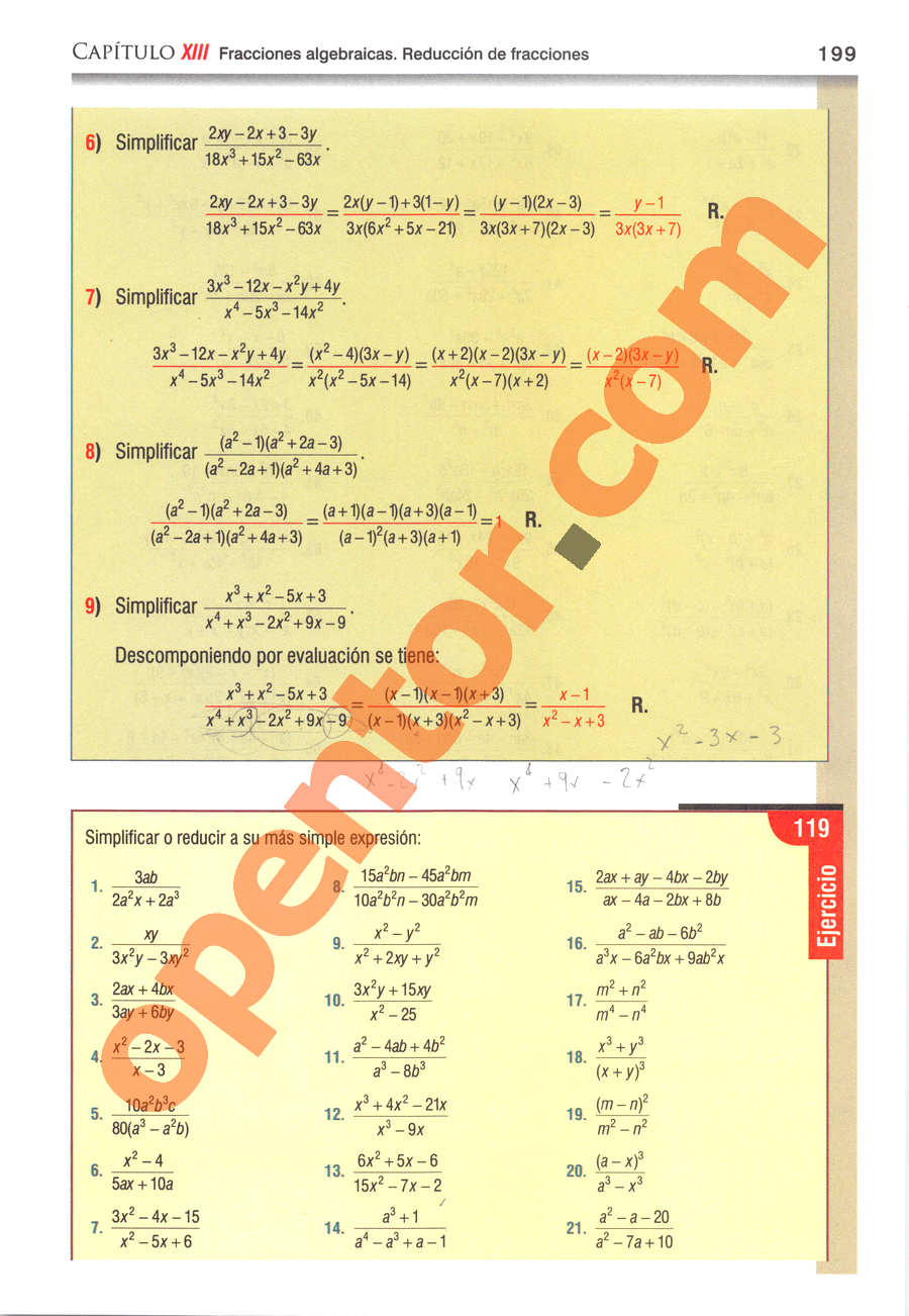 Álgebra de Baldor - Página 199
