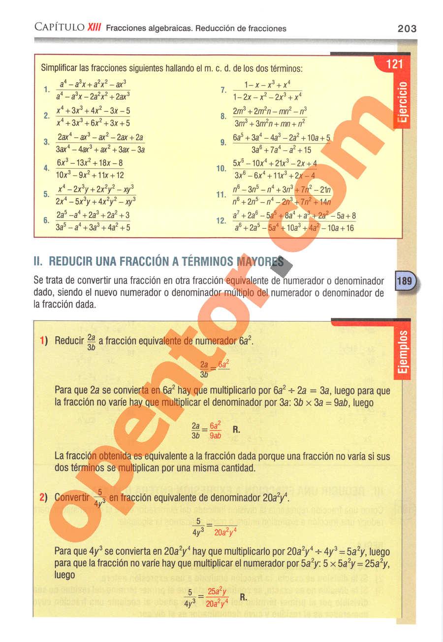 Álgebra de Baldor - Página 203