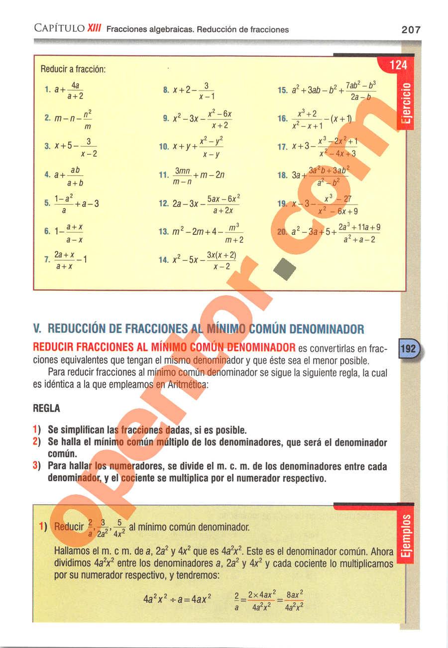 Álgebra de Baldor - Página 207