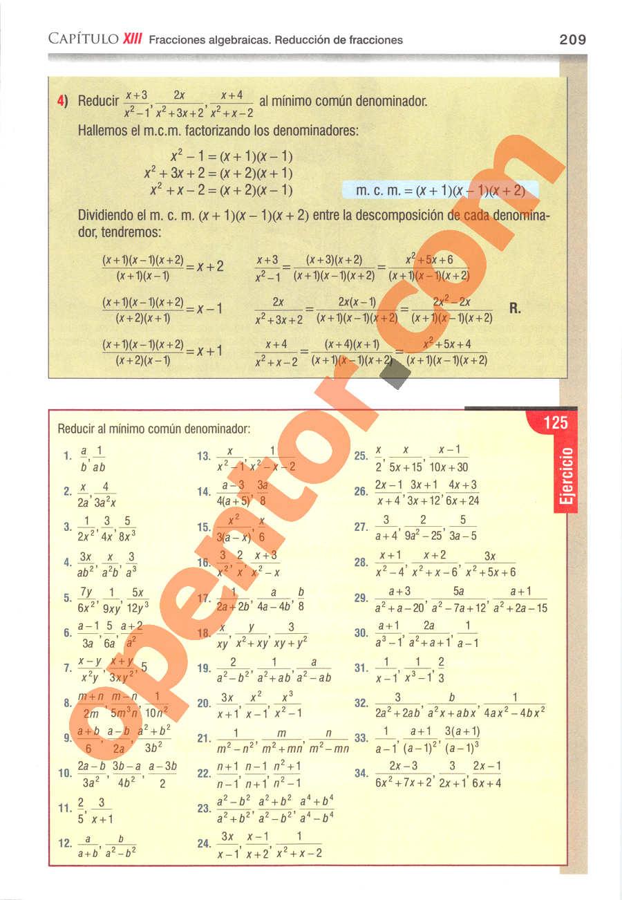 Álgebra de Baldor - Página 209