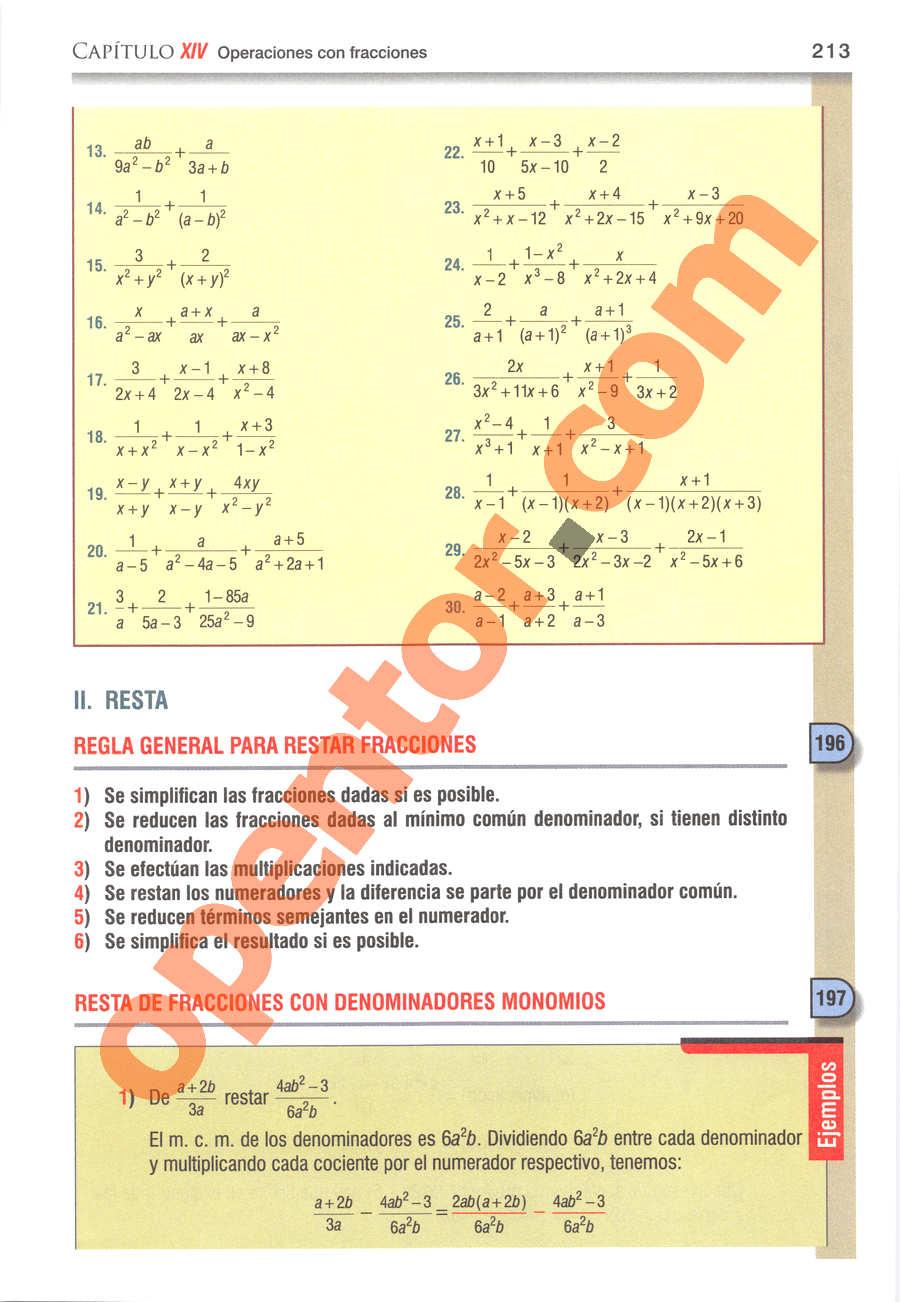 Álgebra de Baldor - Página 213