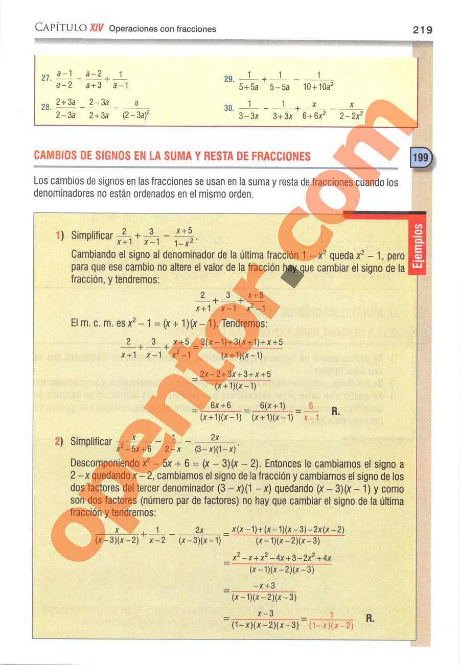 Álgebra de Baldor - Página 219