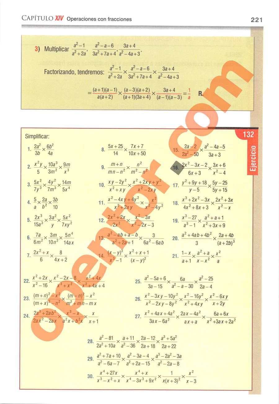 Álgebra de Baldor - Página 221