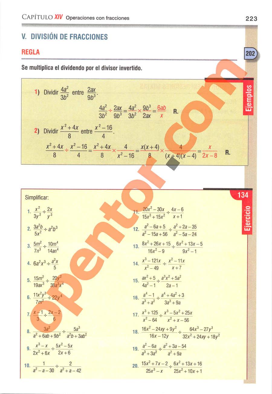 Álgebra de Baldor - Página 223