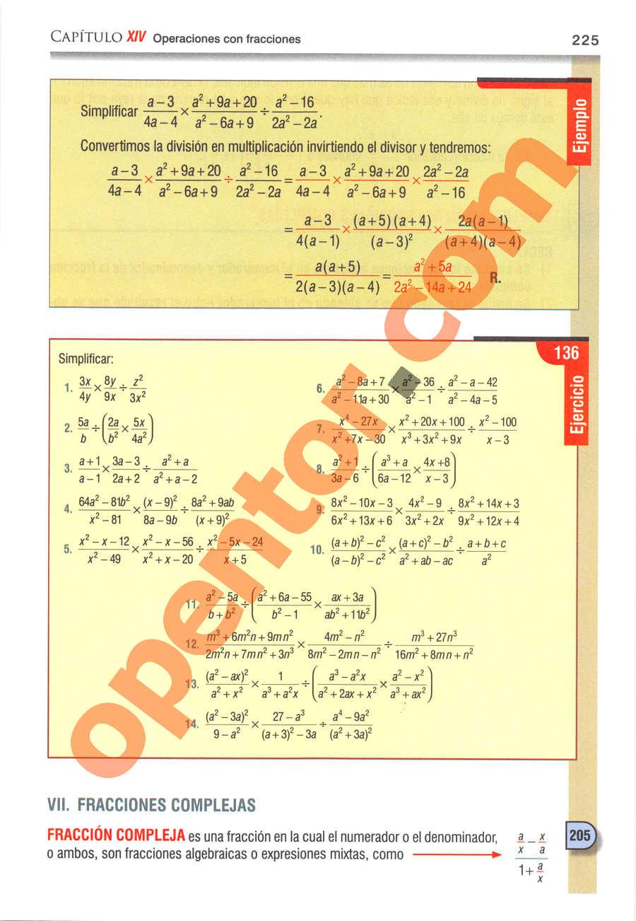 Álgebra de Baldor - Página 225