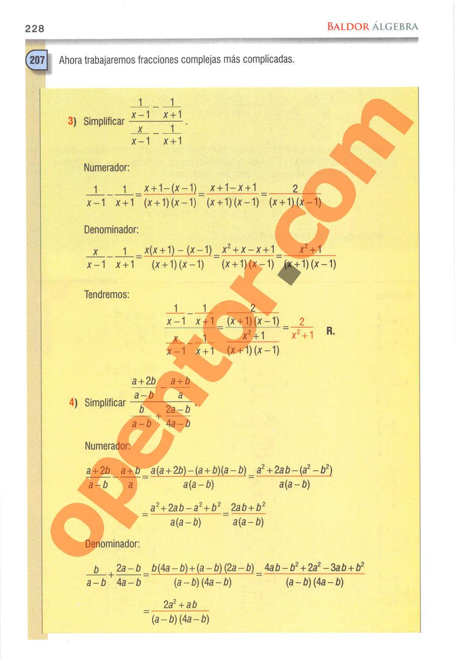 Álgebra de Baldor - Página 228